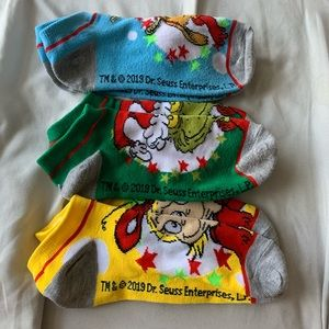 Other - 3 for $30 Dr. Seuss Grinch Christmas Socks
